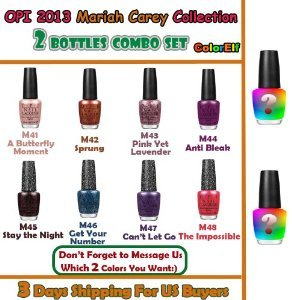 OPI Mariah Collection Bottles Message